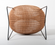 metal & wicker baby basket -9