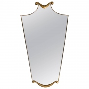 Mid century mirror in the manner of Gio Ponti or Paolo Buffa