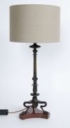 Pair of 19th Century Bronze Table Lamps