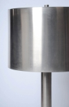 Pair of brushed steel Maison Charles lamps-3