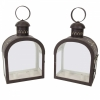 Pair of French toleware lanterns