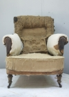 Pair of Howard style club armchairs for restoration - 02