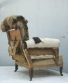 Pair of Howard style club armchairs for restoration - 03