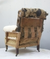 Pair of Howard style club armchairs for restoration - 04