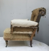 Pair of Howard style club armchairs for restoration - 05