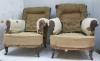 Pair of Howard style club armchairs for restoration - 08