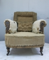 Pair of Howard style club armchairs for restoration - 15