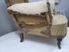 Pair of Howard style club armchairs for restoration - 16