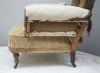 Pair of Howard style club armchairs for restoration - 19