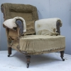 Pair of Howard style club armchairs for restoration - 22