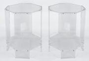 Pair of lucite occassional tables1