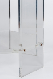 Pair of lucite occassional tables5