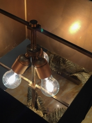 Pair of Maison Charles Fougere table lamps-7