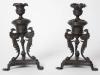 Pair of Regency Bronze Candlesticks