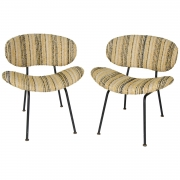 Pair of upholstered side chairs attributed to Rima