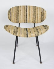 Pair of upholstered side chairs attributed to Rima2