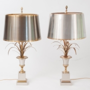 pair of Vase Roseaux table lamps by Maison Charles-8