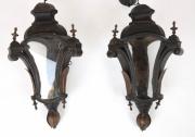 Pair of Venetian toleware hanging lanterns -3