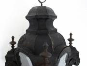 Pair of Venetian toleware hanging lanterns -0