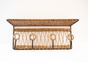Raoul-Guys-metal-and-rattan-wall-shelf1