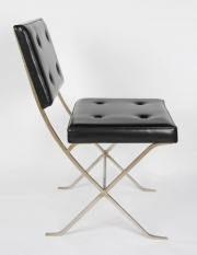 Rare Maison Charles silvered steel side chair5