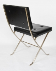 Rare Maison Charles silvered steel side chair6