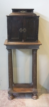 Sir Walter Scott's Flemish early 17th century ebony veneered table cabinet on stand - 1