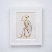 Sitting-monkey-gouache-by-Henri-SAMOUILOV3