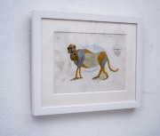 Standing-macaque-gouache-by-HENRI-SAMOUILOV4