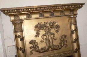 An early 19th century Irish giltwood and gesso pier mirror - Sold
