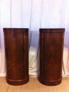 Pair of Danish mid century oval Rosewood cabinets - Sold