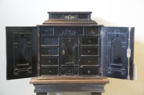 Sir Walter Scott Flemish early 17th century ebony veneered table cabinet on stand