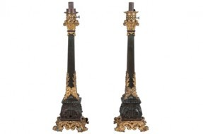 Impressive pair of French Carcel style oil lamps - Sold