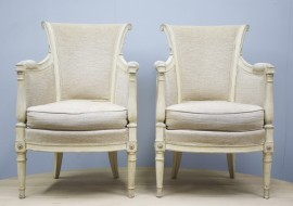 Pair of Directoire style armchairs signed M Hirch - Sold