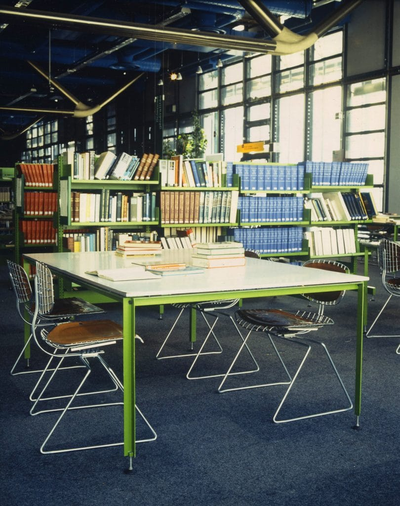 A view of the library at the Beaubourg center in Paris