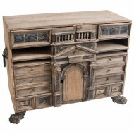 18thC Oak Flemish table cabinet - Sold