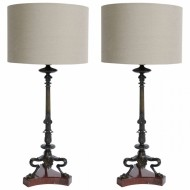 Pair of 19th Century Bronze Table Lamps - Sold