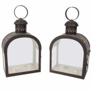 Pair of French toleware lanterns - Sold
