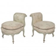 Pair of Louis XV low chairs - Sold