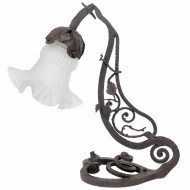Wrought Iron Art Nouveau Desk Lamp - Sold